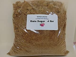 Date Sugar 4 Pounds All Natural, Non-GMO, Healthy Sugar Alternative Bulk