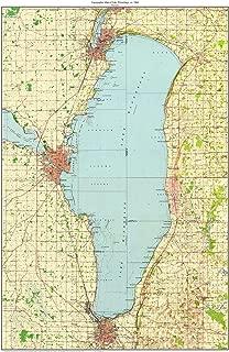 lake winnebago topographic map