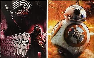 Star Wars - The Force Awakens - Set of 2 Portfolio 2 Pocket School Folders ~ Kylo Ren and BB-8