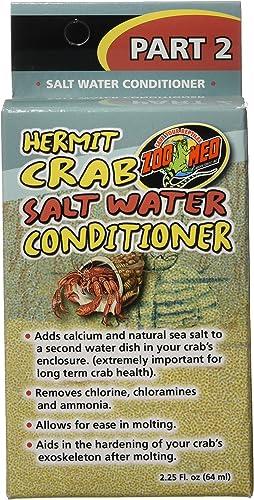 2021 Zoo Med discount Hermit Crab Salt Water online sale Conditioner online sale