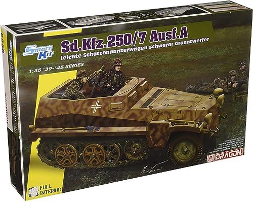 Dragon 6858 SD.kfz 250 7 & ATLE 8cm Mortar 1 35 Military Model Kit