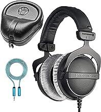 Beyerdynamic DT 770 PRO 250 Ohm Closed Back Headphones for Studio Mixing and Music Recording Bundle with Full-Sized HardBo...