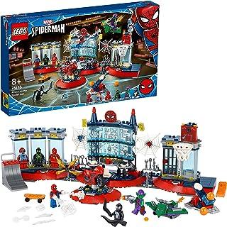 LEGO 76175 Marvel Spider Man Aanval op de Spinnenhol, Bouwset met Green Goblin en Venom Poppetjes voor Kinderen vanaf 8 Jaar