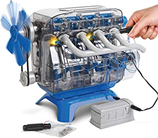 Discovery Kids DIY Toy Model Engine Kit, Mechanic Four Cycle Internal Combustion Assembly Construction, Comes W/ Valves, Cylinders, Hardware & Much More, Encourages STEM Creativity/Critical Thinking