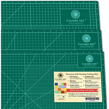 Calibre Art Self Healing Rotary Cutting Mat, Full 24x36, Best for Quilting Sewing | Warp-Proof & Odorless (Not from China)