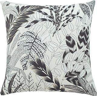 Homing Kissenbezug beige grau   Floral Blumen Wald  Kissenhülle beige grau   Bedruckt Wohnzimmer Schlafzimmer Kinderzimmer...