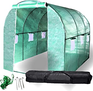 BACKYARD EXPRESSIONS Patio · Home · Garden 911219 Greenhouse Walk in Tunnel Tent  10'x7'x7' Portable Hot House for Plants,...