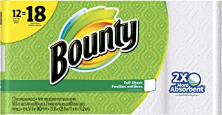 Bounty Paper Towels, Full Sheet, White, 12Count