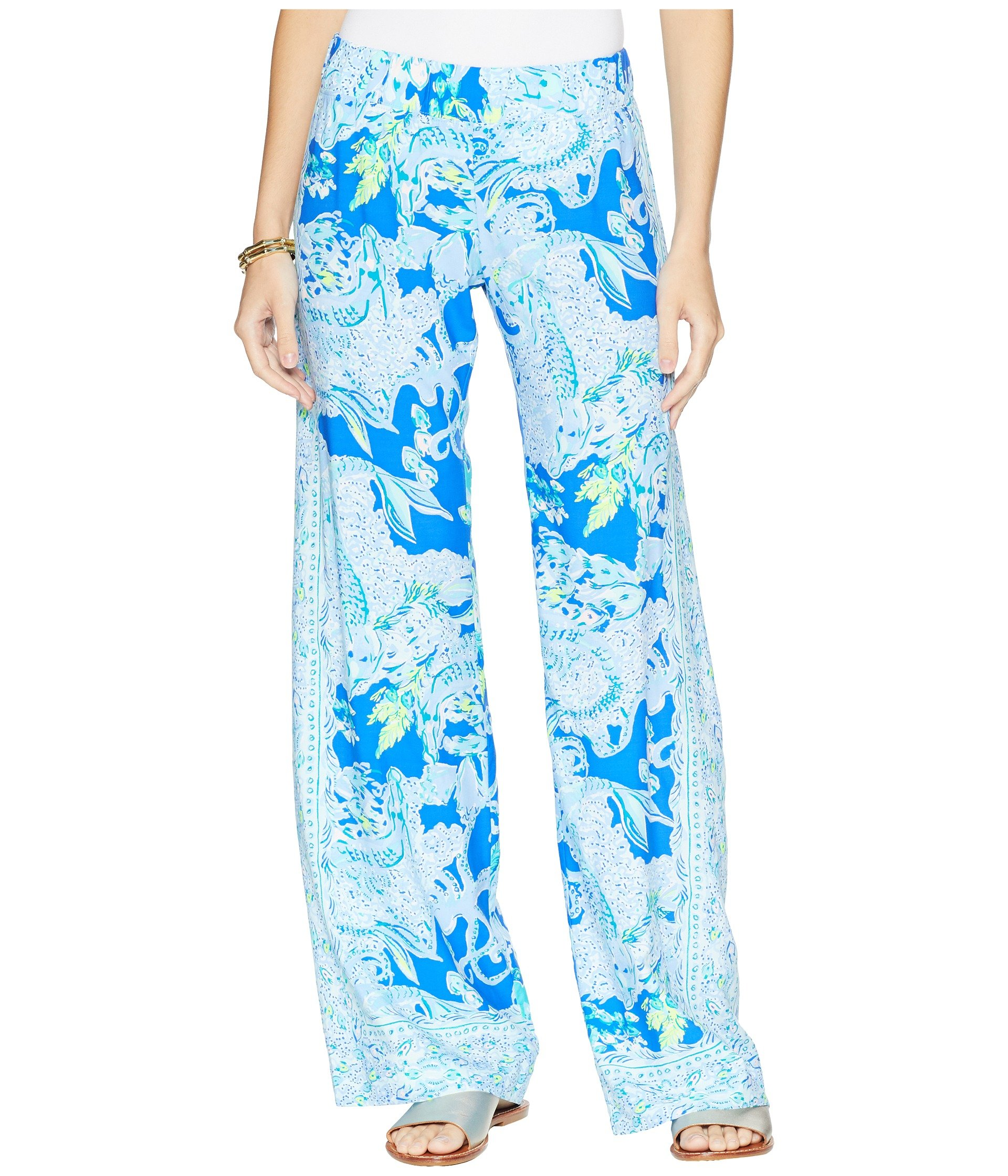 Harbour Palazzo Sea Pulitzer Bal Pants Current Sirens Lilly Blue fwP1T1