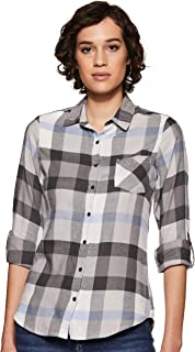 Amazon Brand - Inkast Denim Co. Women's Checkered Slim fit Shirt