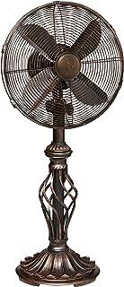 DecoBREEZE Oscillating Table Fan 3 Speed Air Circulator Fan, 12 In, Prestige
