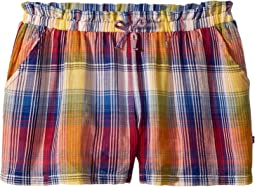 Plaid Soft Shorts (Big Kids)