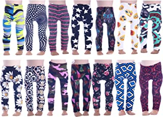 9774b9f37fbb8c LuckDoll 7Pcs Colorful Girl Doll Leggings for American Girl Dolls ans Other  18 inch dolls