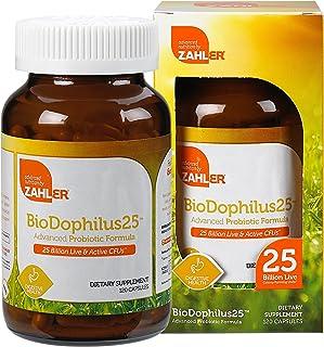 Zahler Biodophilus, All Natural Advanced Probiotic and Prebiotic Supplement, Promotes Digestive Health, 25 Billion Live Cu...
