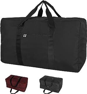 "Bayso 100L Large Storage Bag with Zipper Foldable Organizer for bedding Travel moving Gym School Duffel Bag 32"" (Black)"