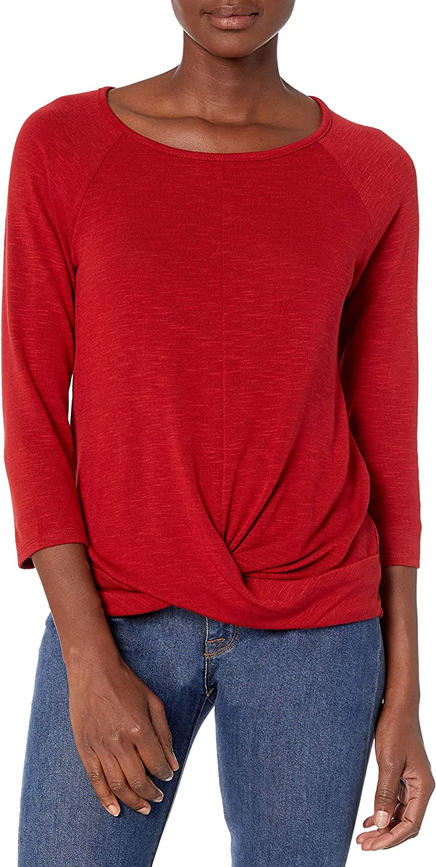 A. Byer Women's Twist Front Pullover Top