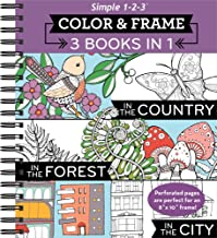 Download Book Color & Frame Coloring Book - 3 in 1 - Country, Forest, City PDF