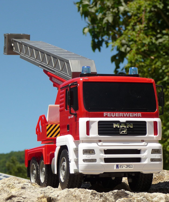 RC FEUERWEHR LKW MAN mit 7 Funktionen 35cm Ferngesteuert 2,4GHz B01HIM4ROC Verwendet in der Haltbarkeit  | Schöne Kunst