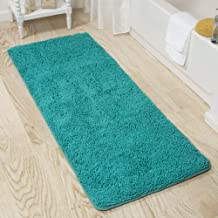 Lavish Home 2 Piece Memory Foam Shag Bath Mat Set - Burgundy Seafoam