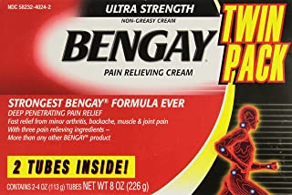 Bengay Ultra Strength Pain Relieving Cream, 2 Count, 4 Ounces Box, 8 Total Ounces