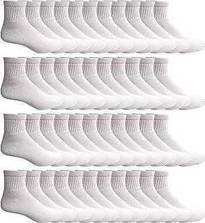 SOCKS'NBULK 60 Pairs Wholesale Bulk Sport Cotton Unisex Crew, Ankle, Tube Socks, Men Woman Children