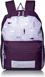 Nautica Girls' Big Fashion Print Small Backpack for Kids, Grape, One Size