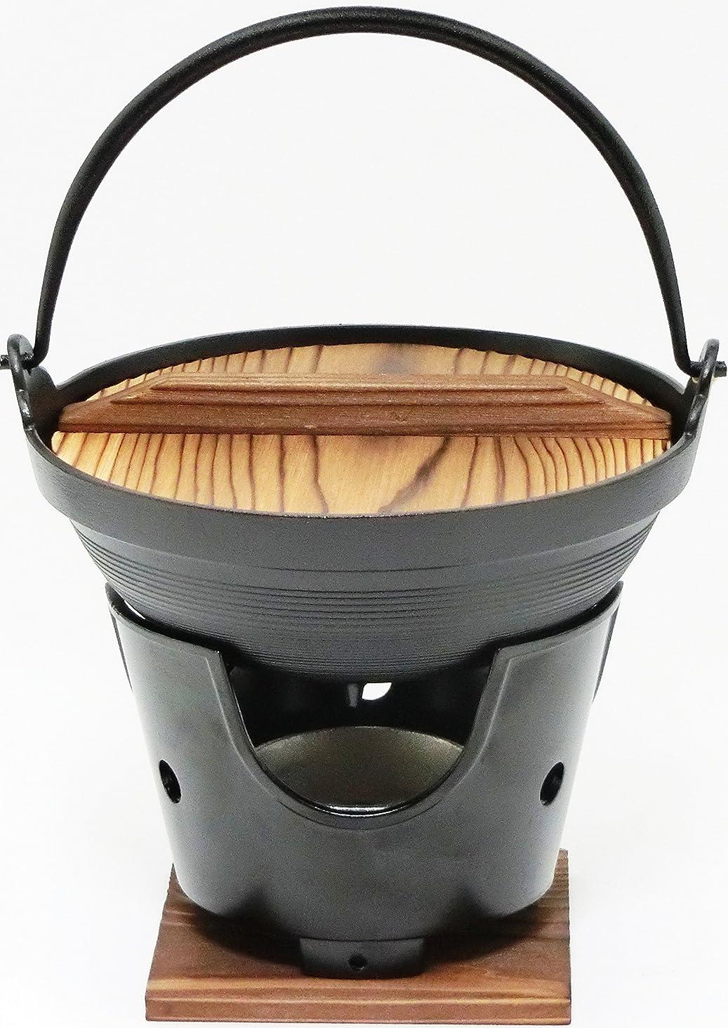 告白瞑想する標準【 国産 】 ご家庭でも楽しめる プロ仕様 懐石 匠の技 いろり 鍋 18cm コンロ 火皿 付 セット ( 固形燃料 使用 タイプ)