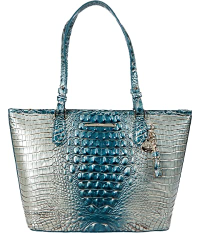 Brahmin Ombre Melbourne Medium Asher Totes (Petrol) Handbags