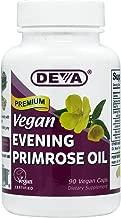 DEVA Vegan Vitamins Vegan Evening Primrose Oil Vcaps, 90-Count Bottle