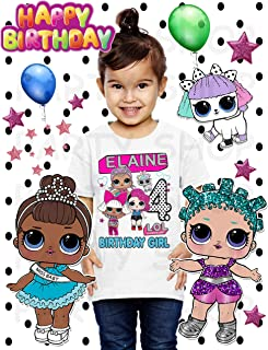 Lol Doll Shirt, Lol Birthday Party, Add Any Name and Age, Family Matching Shirts, Girls Birthday Shirt, Personalized Lol Shirt Family
