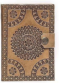 Anshika International Leather Handicraft Self Embossing Diary (Beige 01, 6 * 4)
