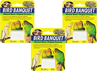 Zoo Med Mineral Block Original Formula Banquet Bird Food,