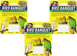 Zoo Med Mineral Block Original Formula Banquet Bird Food,