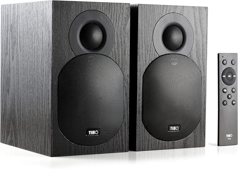 TIBO Plus 3.1 dise/ñados y desarrollados en el Reino Unido Negro Altavoces Bluetooth Activos de Alta fidelidad