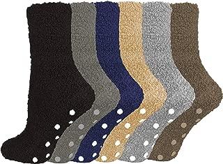 Gilbin Super Soft Toasty Fuzzy 6 Pack Anti Grip Socks Assorted 9-11