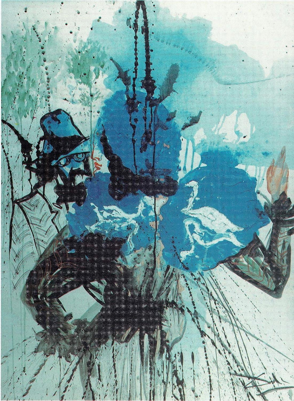 Black Creations Figure with Swan Salvador Dali 1974 Poster Canvas Picture Art Print Premium Quality A0 A1 A2 A3 A4 (A0 Canvas (30 40))