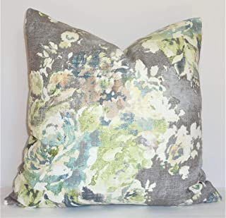 CELYCASY AS SEEN on The Bachelor Taupe Grey Sage Green Blue Ivory Floral Pillow Cover Decorative Home Decor Size 18x18 18x18 inch 45x45cm 18x18 inch 45x45cm