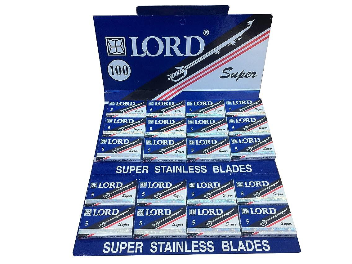 シビック落ち込んでいる剥ぎ取るLord Super Stainless 両刃替刃 100枚入り(5枚入り20 個セット)【並行輸入品】