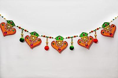 eCraftIndia Papier-Mache Colorful Bandarwal - Door Hanging
