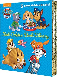 Paw Patrol Little Golden Book Library (Paw Patrol): Itty-Bitty Kitty Rescue; Puppy Birthday!; Pirate Pups; All-Star Pups!;...