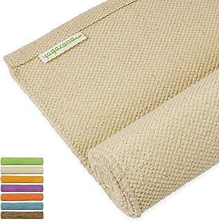 Yogasana Yoga Mat   Thick Eco Friendly Cotton, Home Workout Mat Floor Exercise, Meditation, Superior Grip Non Slip, Hot Yo...