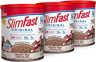 SlimFast Original Creamy Milk Chocolate Meal Replacement Shake Mix - Weight Loss Powder - 12.83 Oz. - 14 Servings (Pack of...