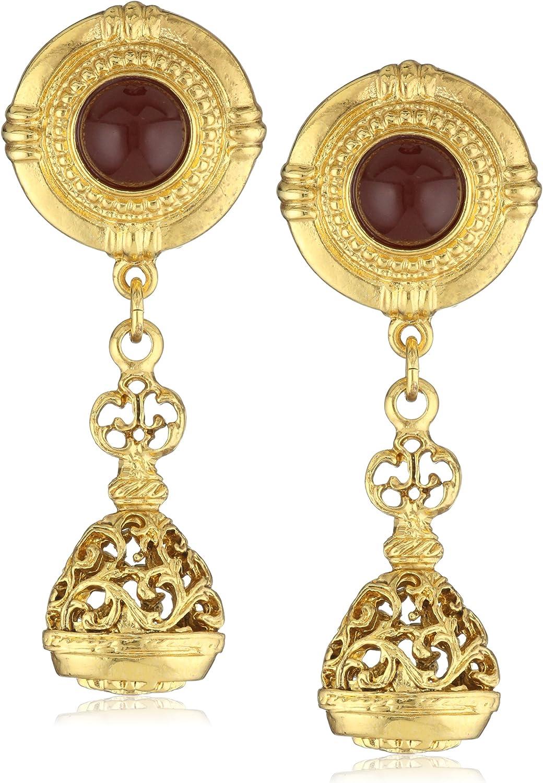Ben-Amun Jewelry Royal Charm Vintage-Inspired Gold Multi Charm Bracelet