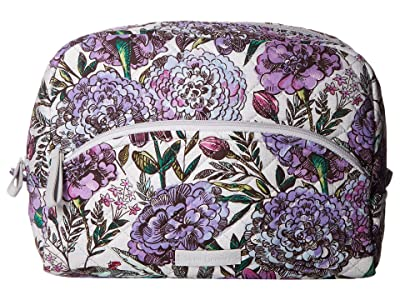Vera Bradley Iconic Large Cosmetic (Lavender Meadow) Cosmetic Case