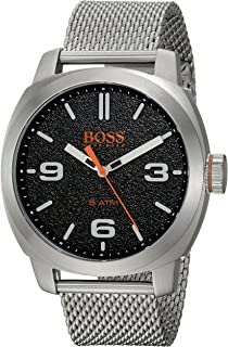 Men's Cape Town Casual Quartz Watch with Stainless-Steel Strap, Silver, 22 (Model: 1550013)
