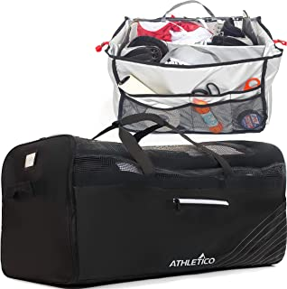 Athletico Hockey Duffle Bag - Large Duffel Travel Bag for Equipment & Gear, with Included Organizer Caddy