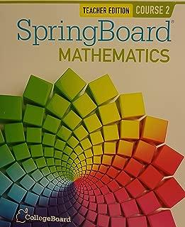 SpringBoard Mathematics Course 2 2014 TE Teachers Edition CollegeBoard