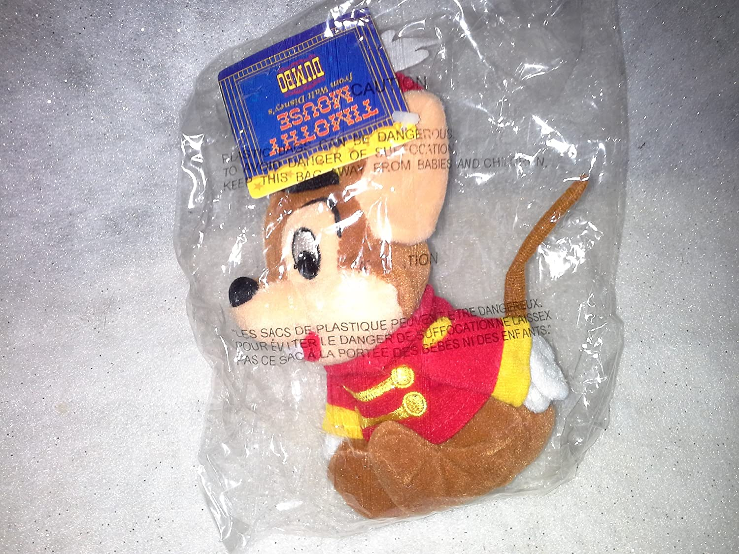 Timothy Q. Mouse Beanie Baby from Dumbo by Disney