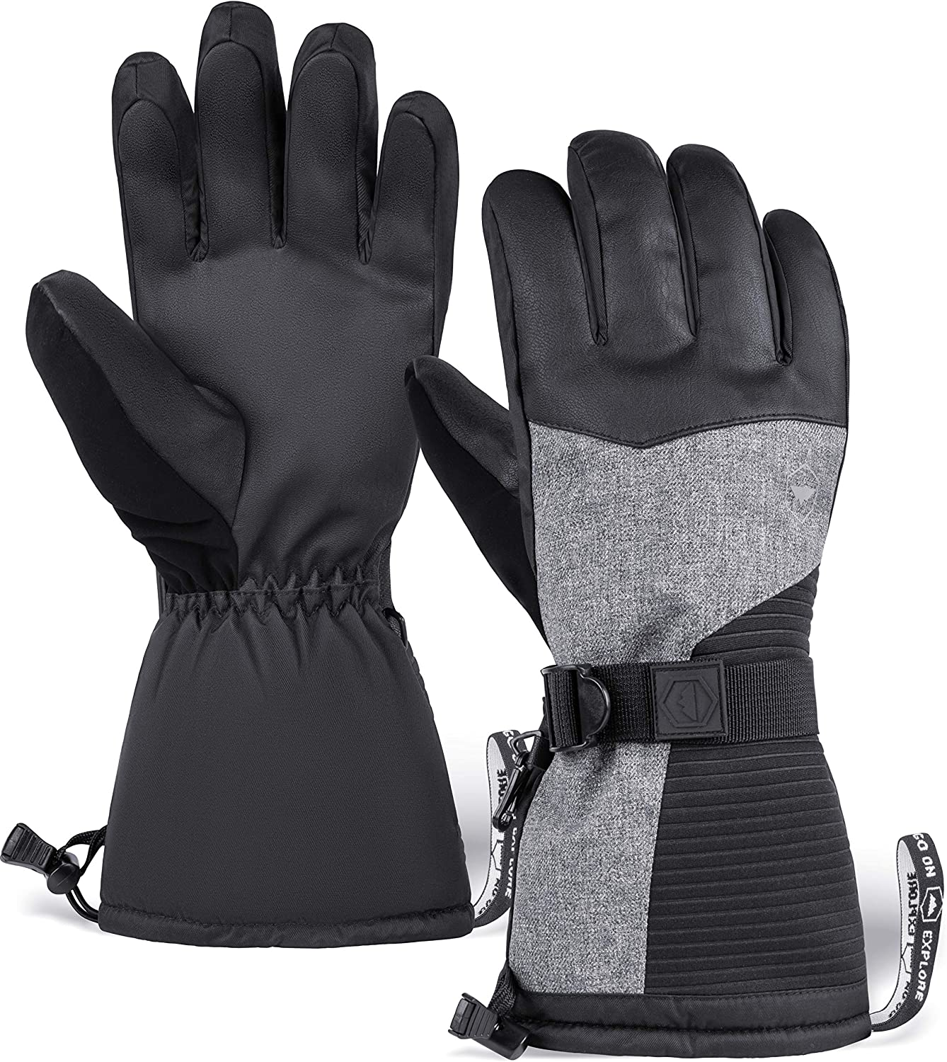 Ski & Snow Gloves - Waterproof & Windproof Winter Snowboard Gloves for Cold Weather Skiing & Snowboarding for Men & Women