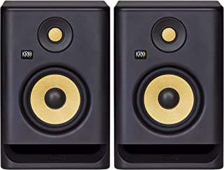 "KRK RP5 Rokit 5 G4 Professional Bi-Amp 5"" Powered Studio Monitor Pair, Black (Renewed)"